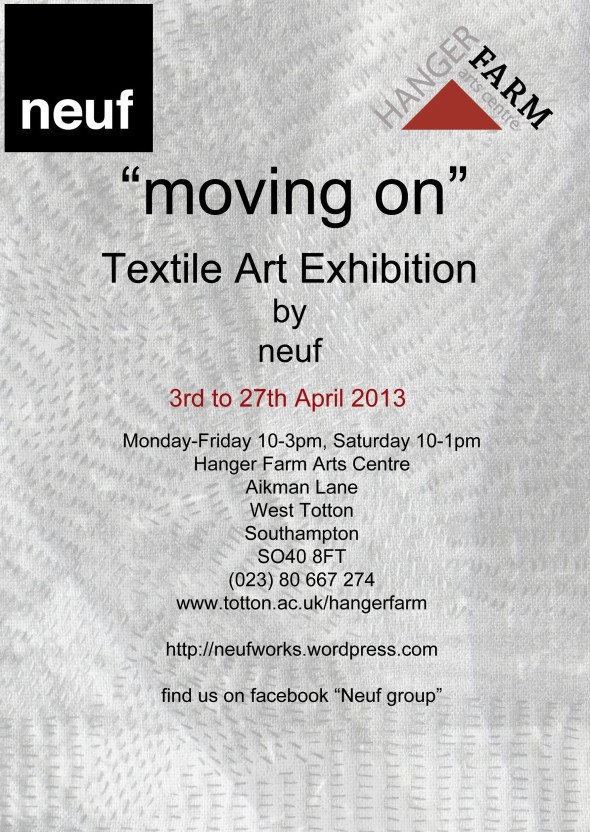 """details of neuf exhibition at Hanger Farm"""